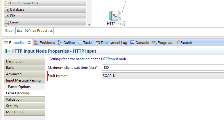 HTTPInput node should use XML error handling